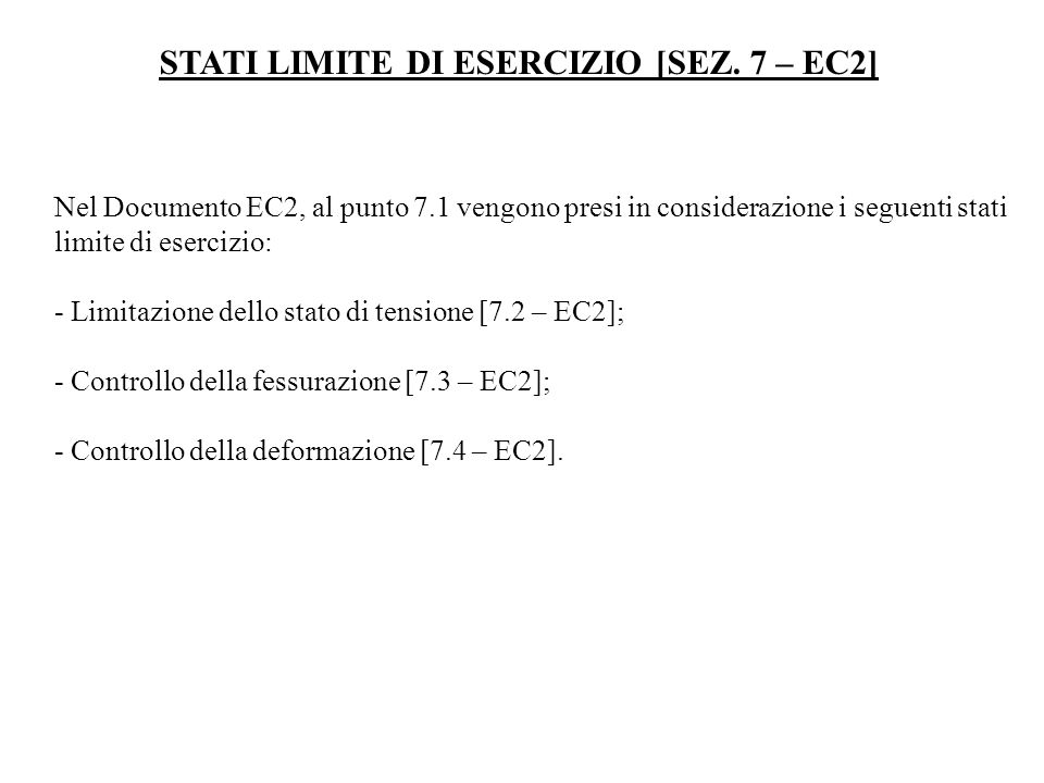 STATI LIMITE DI ESERCIZIO [SEZ. 7 – EC2]